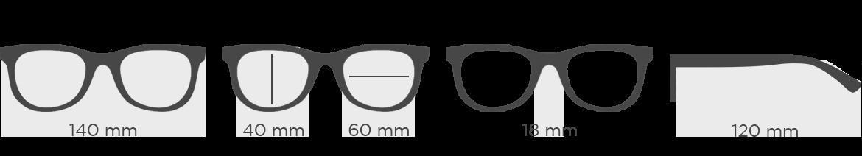 Rozmery okuliarov
